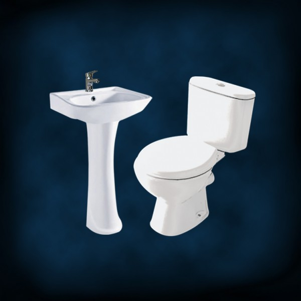 Amerigo Econo Toilet with Basin Pedestal